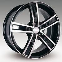 Легкосплавные диски Racing Wheels H-412 BK-F/P 7.0/5x110/Rd65.1 — фото